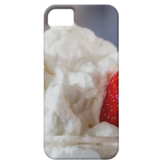 Cream with strawberries in a glass bowl iPhone SE/5/5s case