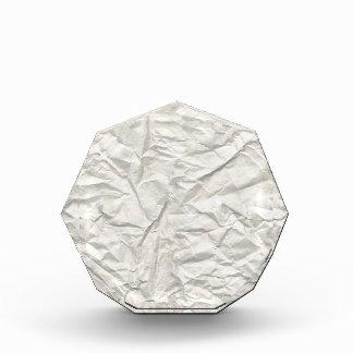 Cream Wrinkled Paper Texture Award