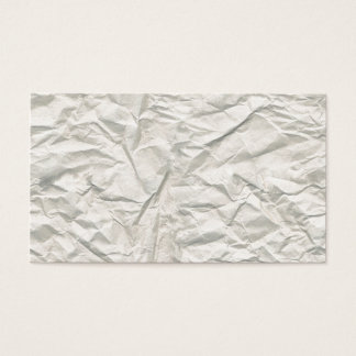 Cream Wrinkled Paper Texture Business Card