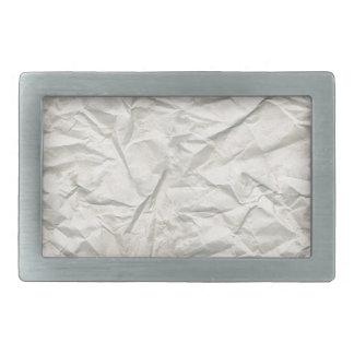 Cream Wrinkled Paper Texture Rectangular Belt Buckle