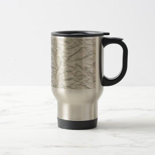 Cream Wrinkled Paper Texture Travel Mug