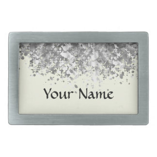 Cream yellow and faux glitter personalized belt buckle