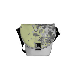Cream yellow and faux glitter personalized courier bag