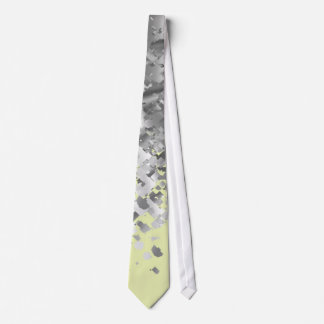Cream yellow and faux glitter personalized neck tie