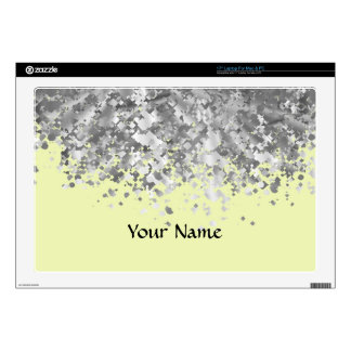 Cream yellow faux gitter personalized laptop skins