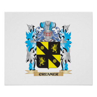 Creamer Coat of Arms - Family Crest Print