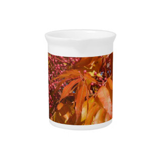 Creamer (Pitcher) Autumn Leaves and Berries