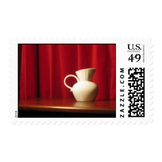 creamer & red curtain postage stamps
