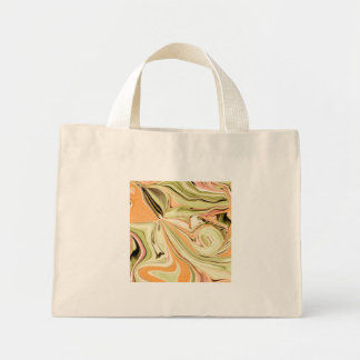 Creamsicle Abstract Patterned TOTE Mini Tote Bag