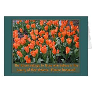Creamsicle and Orange Tulips Card