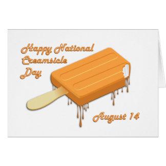 Creamsicle día 14 de agosto nacional tarjeta de felicitación