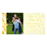 Creamsicle floral save the date wedding photocard customized photo card