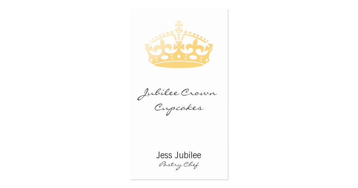Creamsicle jubilee crown business card zazzle for Crown business cards