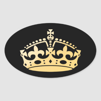 Creamsicle Jubilee Crown Oval Sticker