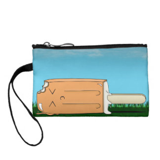 Creamsicle Melt Coin Wallet