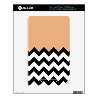 Creamsicle, Orange Peach Pattern On Large Zigzag Decals For NOOK Color