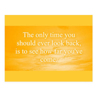 CREAMSICLE ORANGE WORDS WISDOM THE ONLY TIME YOU S POSTCARD