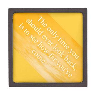 CREAMSICLE ORANGE WORDS WISDOM THE ONLY TIME YOU S PREMIUM KEEPSAKE BOX