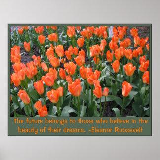 Creamsicle y tulipanes anaranjados impresiones