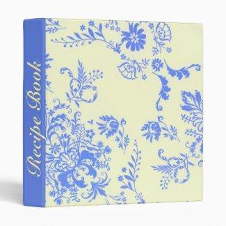 Creamy and Blue Damask Recipe Book