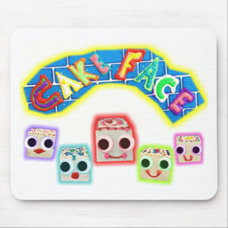 Creamy and The Petit Fours Cake Face Logo Mouse Pad