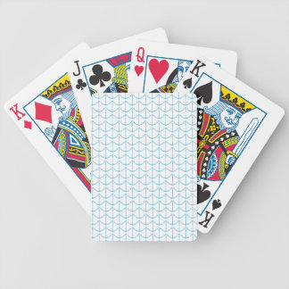 Creamy Blue Nautical Anchors Bicycle Playing Cards