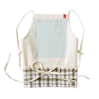 Creamy Blue Nautical Anchors Zazzle HEART Apron