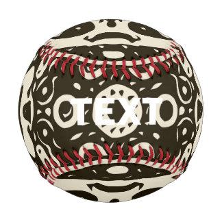 Creamy Brown Aztec Pattern Baseball
