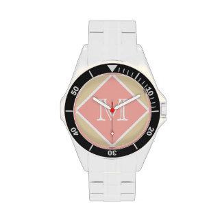Creamy Buff, Perfect Peach & WhiteMonogram Wrist Watches