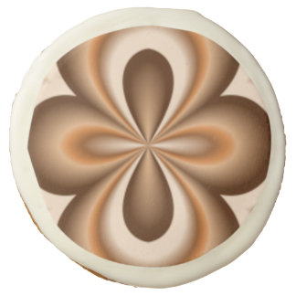 Creamy Caramel Chocolate Pattern Sugar Cookie