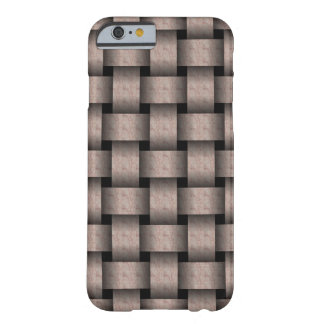 Creamy Cocoa Basket Weave Barely There iPhone 6 Case