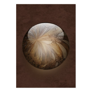 Creamy Coffee Brown Shiny Marble Large Business Cards (Pack Of 100)
