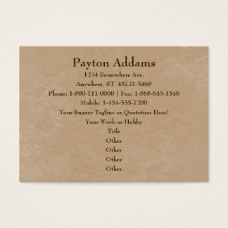 Creamy Coffee Brown Shiny Marble Business Card