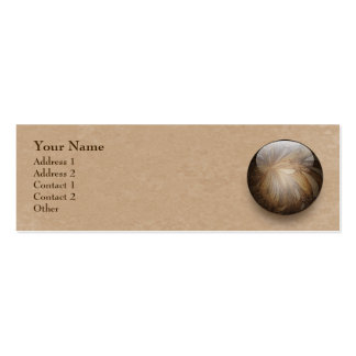 Creamy Coffee Brown Shiny Marble Double-Sided Mini Business Cards (Pack Of 20)