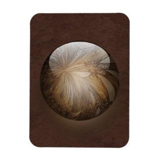 Creamy Coffee Brown Shiny Marble Vinyl Magnet