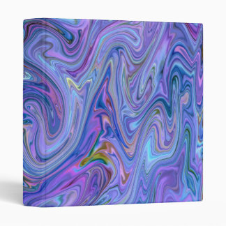 creamy Colors, blue 3 Ring Binder