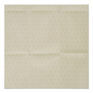 Creamy Creased Canvas background Poster