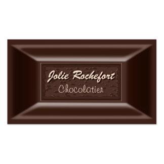 Creamy Dark Chocolate Chocolatier Business Cards