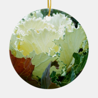 Creamy Fracas Ceramic Ornament