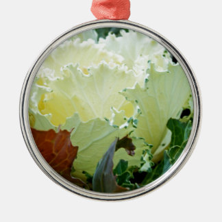 Creamy Fracas Metal Ornament
