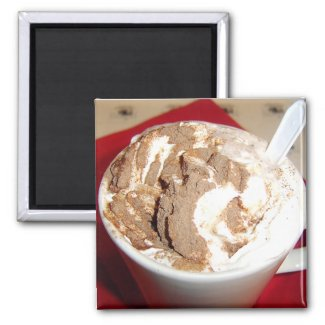 Creamy Hot Chocolate Still Life Photography magnet