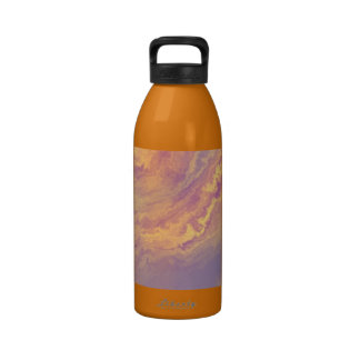 CREAMY ORANGES abstract art free culture public do Reusable Water Bottle