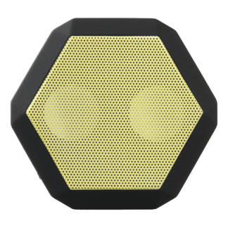 Creamy Pale Pastel Butter Yellow Solid Black Bluetooth Speaker