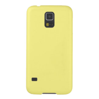 Creamy Pale Pastel Butter Yellow Solid Galaxy S5 Cover