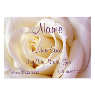 Creamy Pink Profile Card Large Business Card