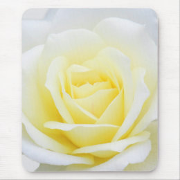 Creamy rose mouse pad