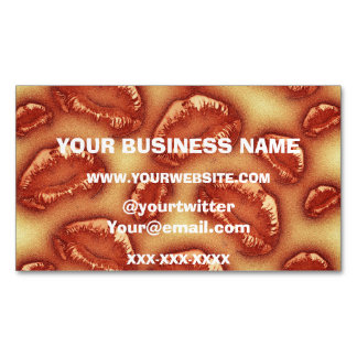 Creamy Soda Kisses Magnetic Business Card