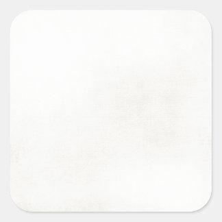 creamy white square sticker