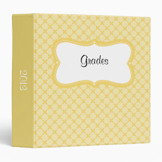 Creamy Yellow Design With Curved Label 3 Ring Binder