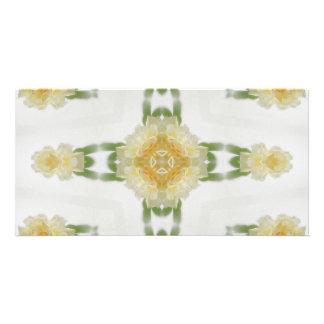 Creamy Yellow Rose Kaleidoscope Art 6 Card